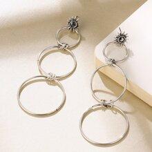 Layered Ring Drop Earrings