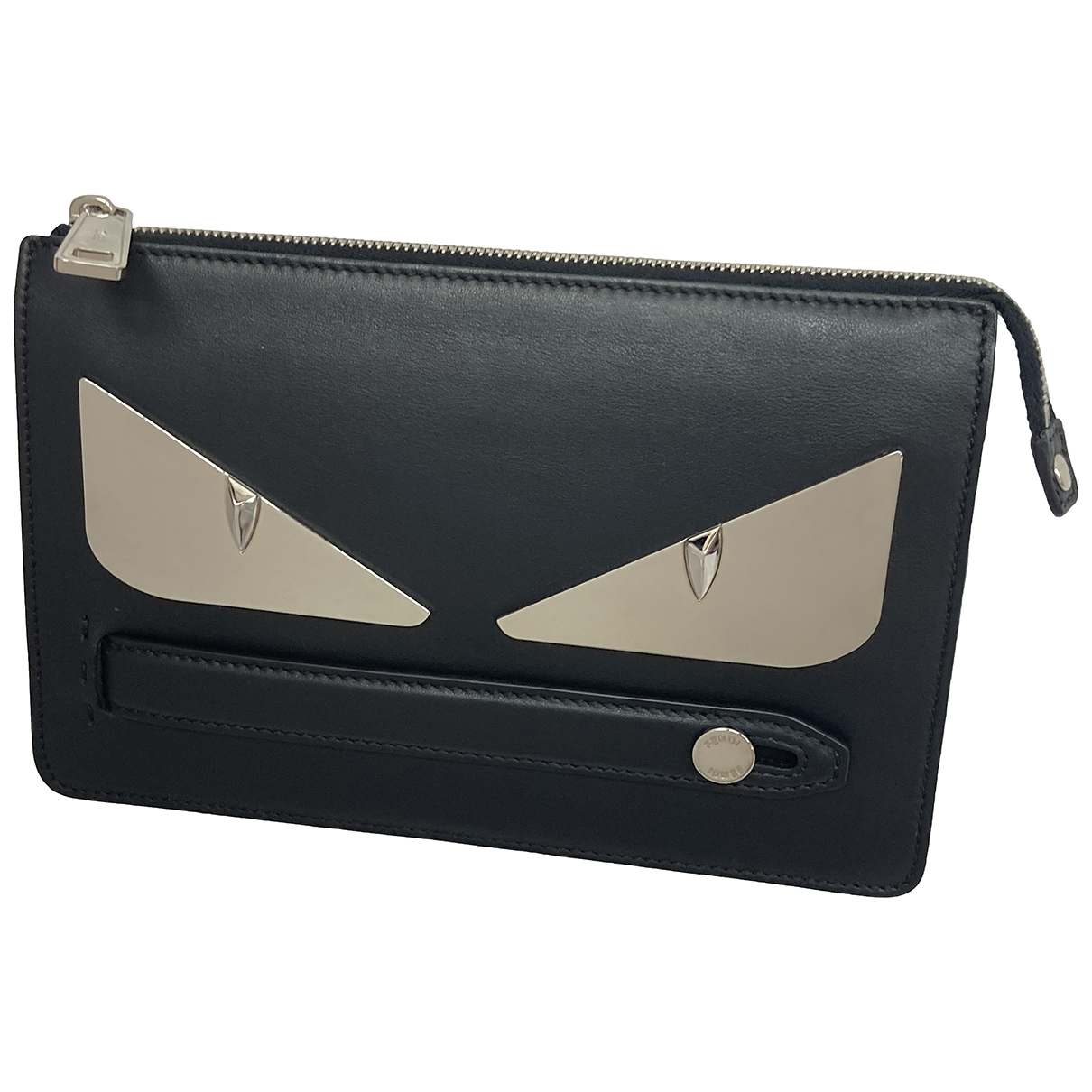 Fendi \N Black Leather Clutch bag for Women \N