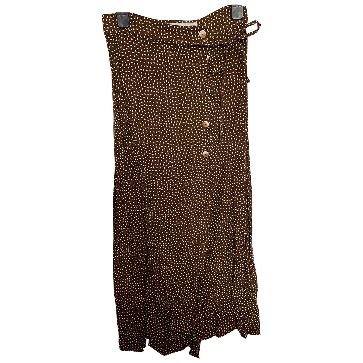 Mango \N Brown skirt for Women XS International