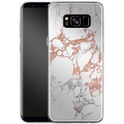Samsung Galaxy S8 Silikon Handyhuelle - Marble Mix von #basic