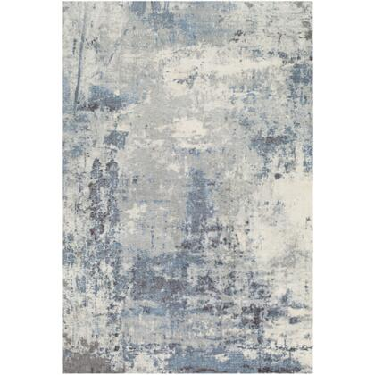 Felicity FCT-8010 4' x 6' Rectangle Modern Rug in Bright Blue  Charcoal