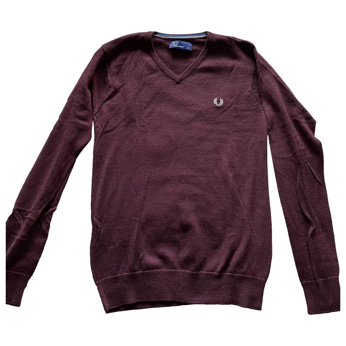 Fred Perry \N Burgundy Wool Knitwear & Sweatshirts for Men XS International