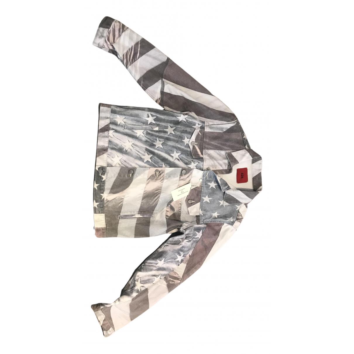424 - Vestes.Blousons   pour homme en coton - multicolore