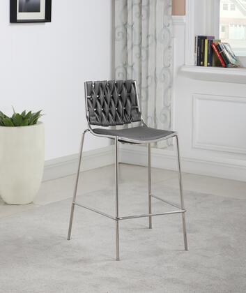 TAYLOR-CS-GRY Stackable Counter Stool with Weave Back in