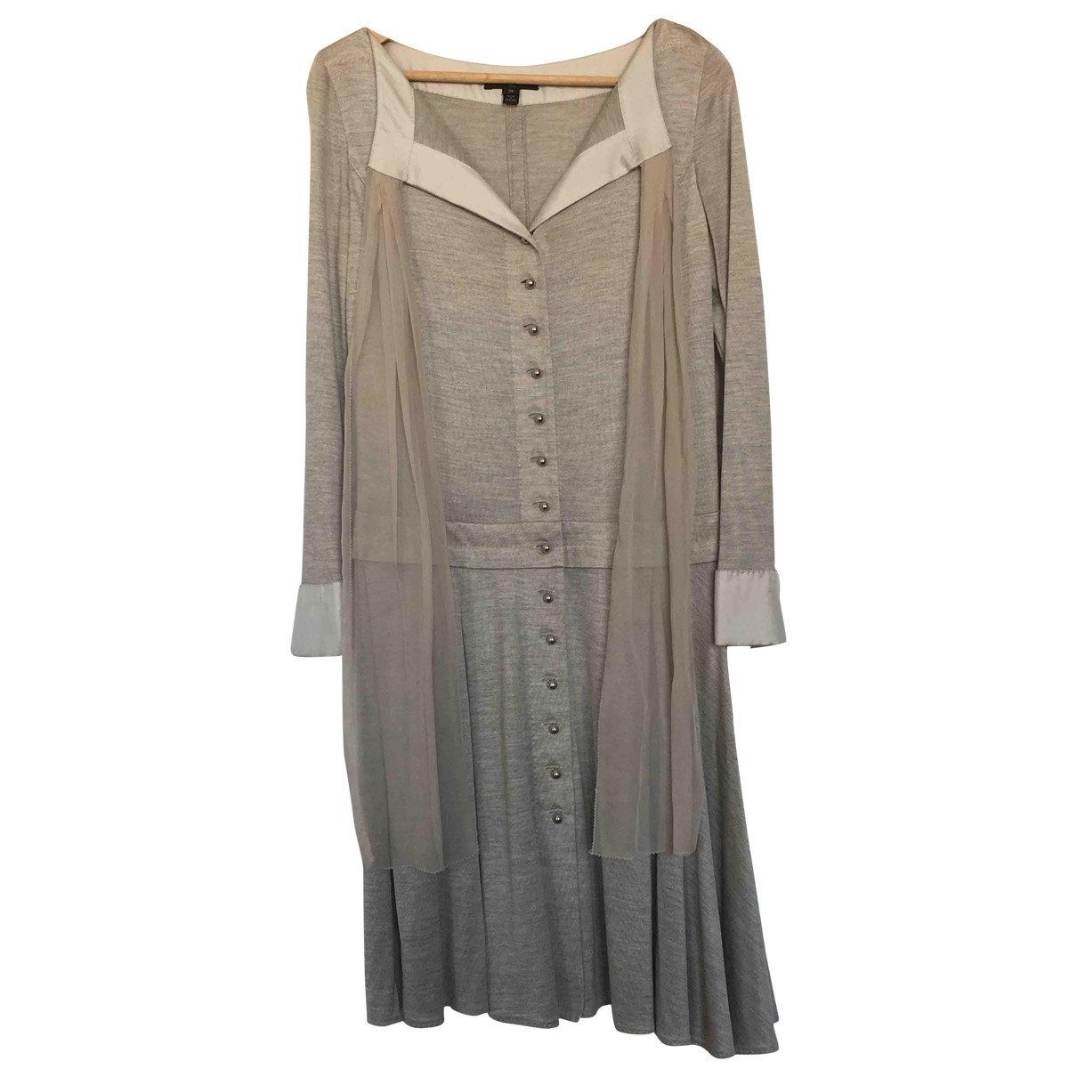 Louis Vuitton \N Grey Silk dress for Women 38 FR
