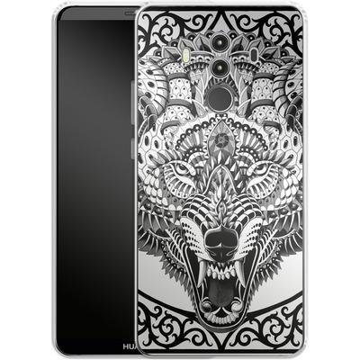 Huawei Mate 10 Pro Silikon Handyhuelle - Wolf Head von BIOWORKZ