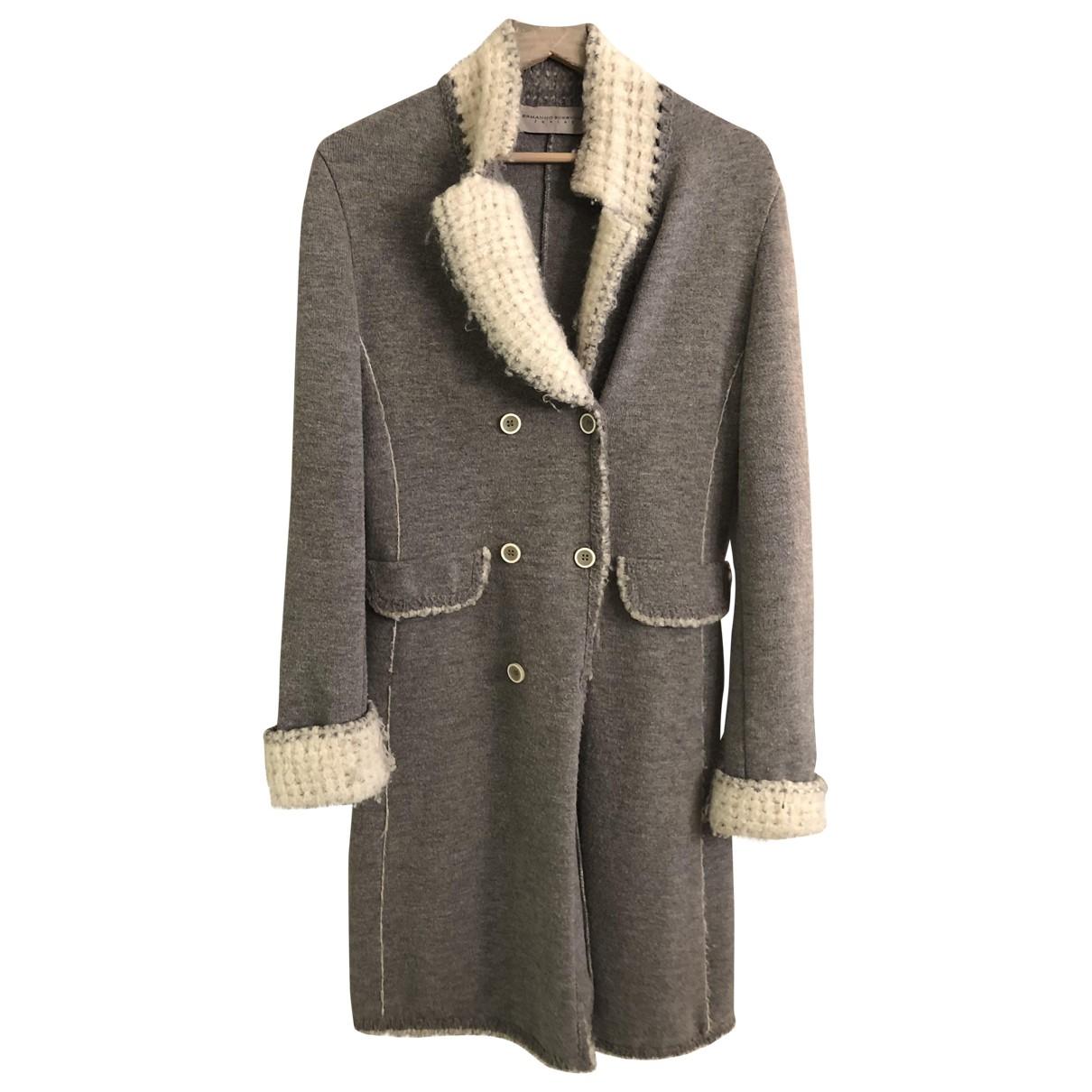 Ermanno Scervino \N Grey Wool coat for Women 40 IT