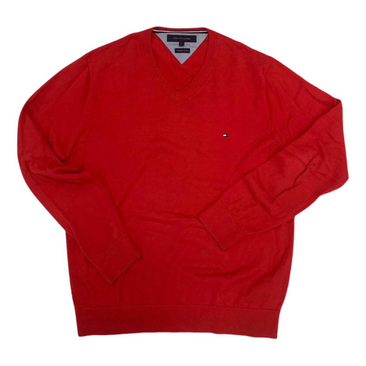 Tommy Hilfiger - Pulls.Gilets.Sweats   pour homme en coton - rouge