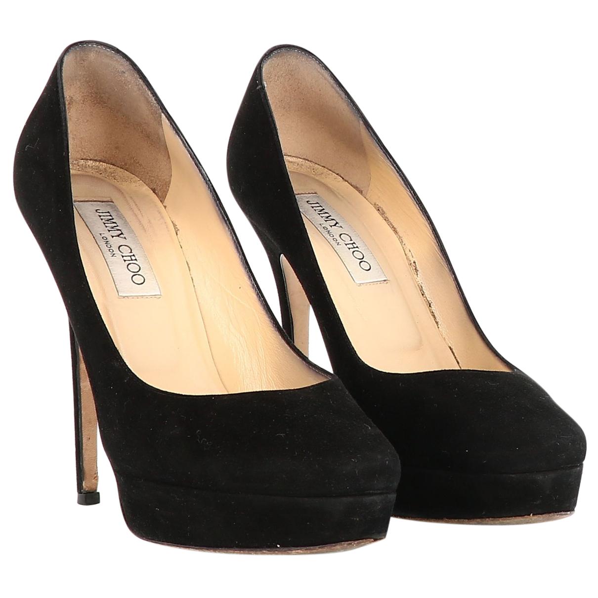 Jimmy Choo N Black Suede Heels for Women 39.5 EU