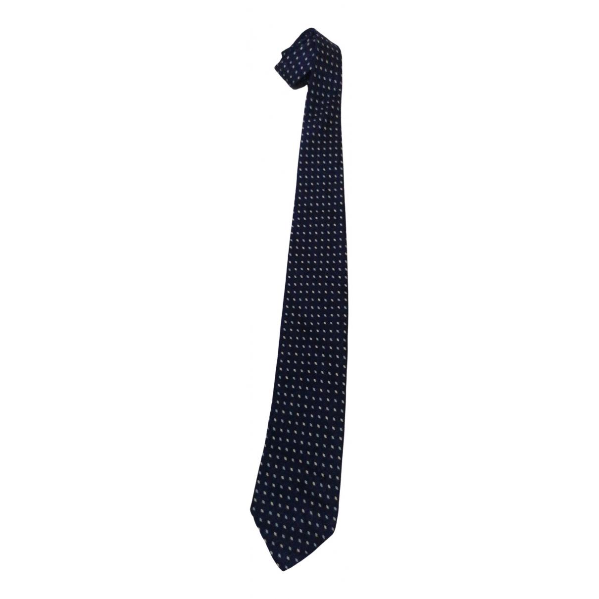 Churchs - Cravates   pour homme en soie - marine