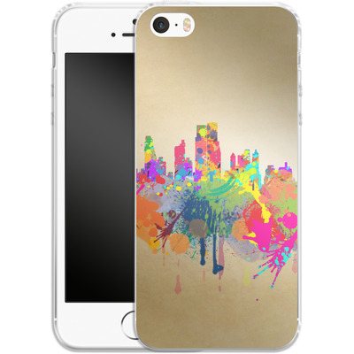 Apple iPhone 5 Silikon Handyhuelle - New York Skyline von Mark Ashkenazi