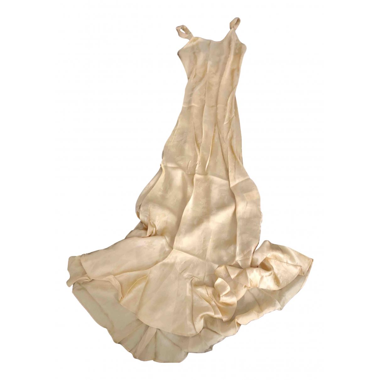 Realisation Allegra Kleid in  Gelb Seide