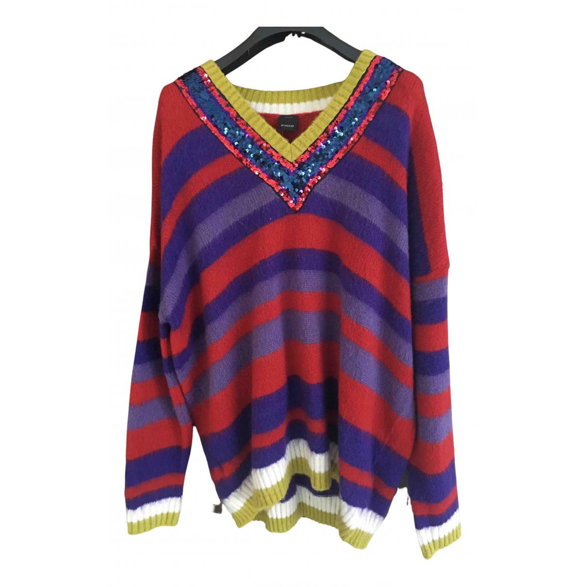 Pinko - Pull   pour femme en laine - multicolore