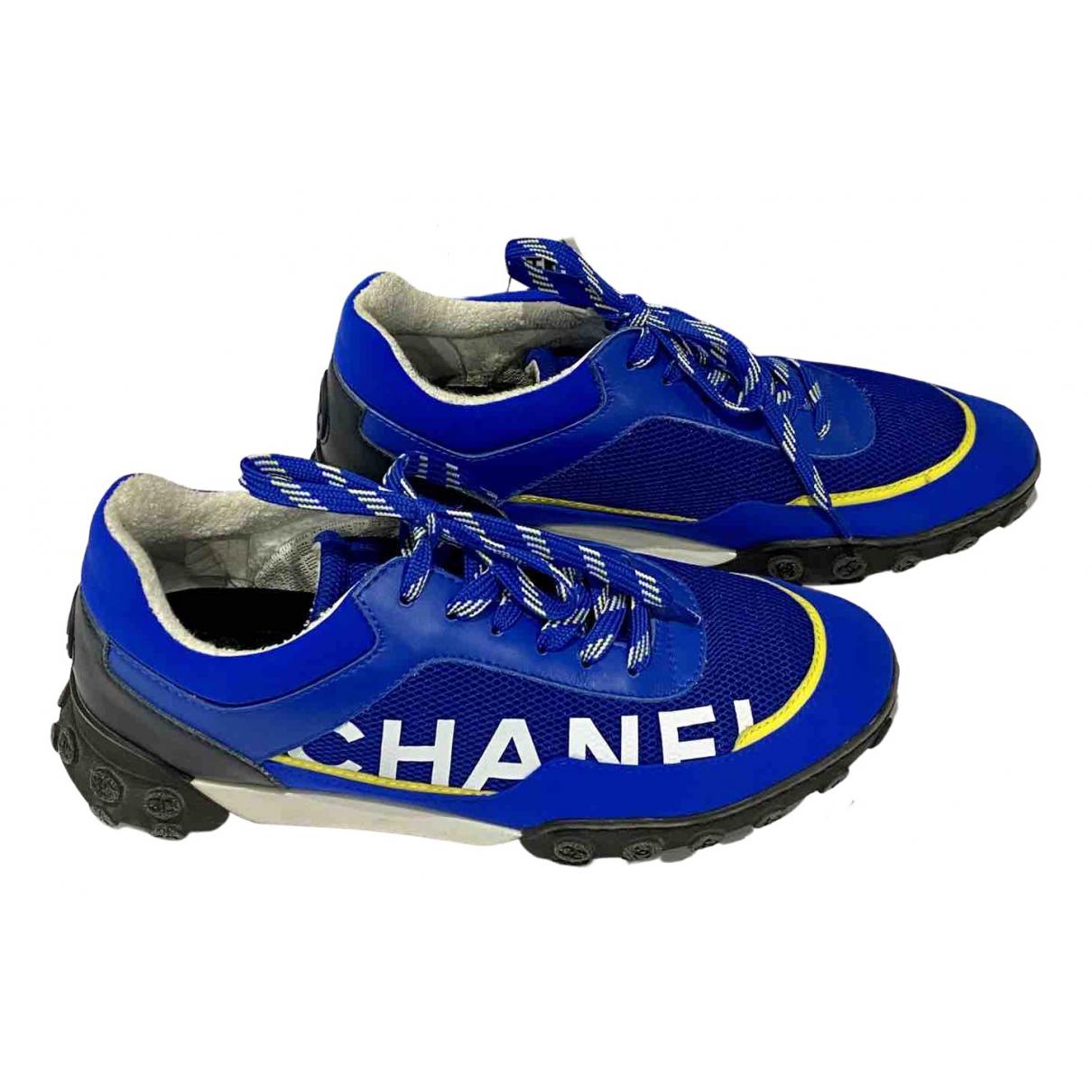 Chanel \N Sneakers in  Blau Leinen