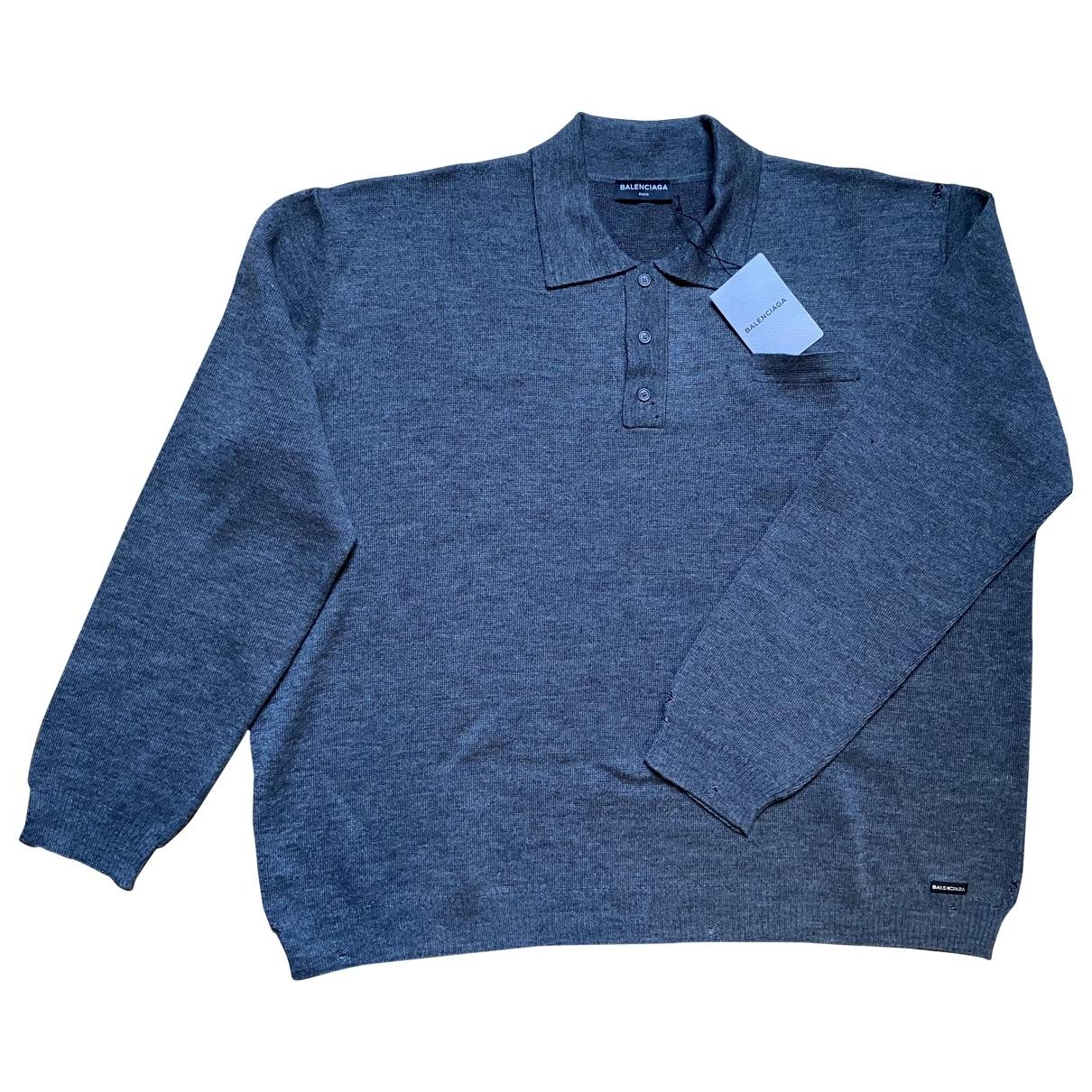 Balenciaga \N Poloshirts in  Grau Baumwolle