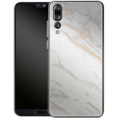 Huawei P20 Pro Silikon Handyhuelle - Gold Marble Elegance von #basic