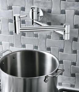 441194 Cantata Wall Mounted Pot Filler Kitchen Faucet In