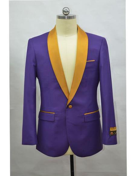 Gras Tuxedo Dinner Jacket Purple & Gold