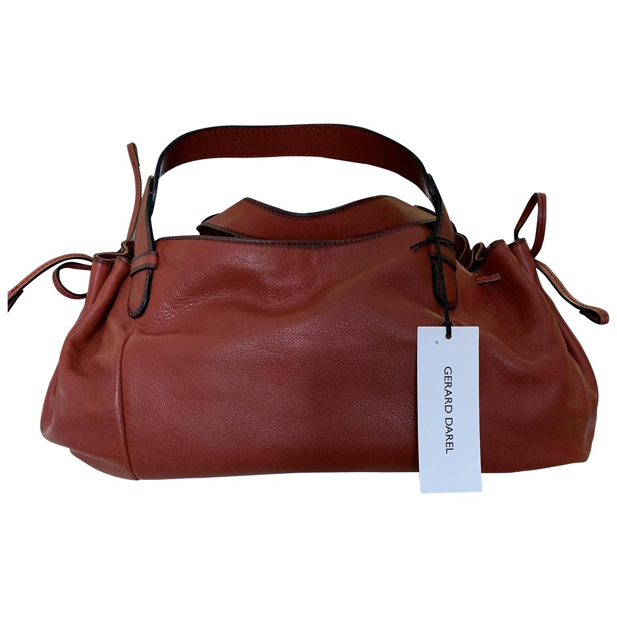 Gerard Darel 24h Red Leather handbag for Women \N