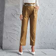 Pantalones a medida con cinturon de cintura con volante