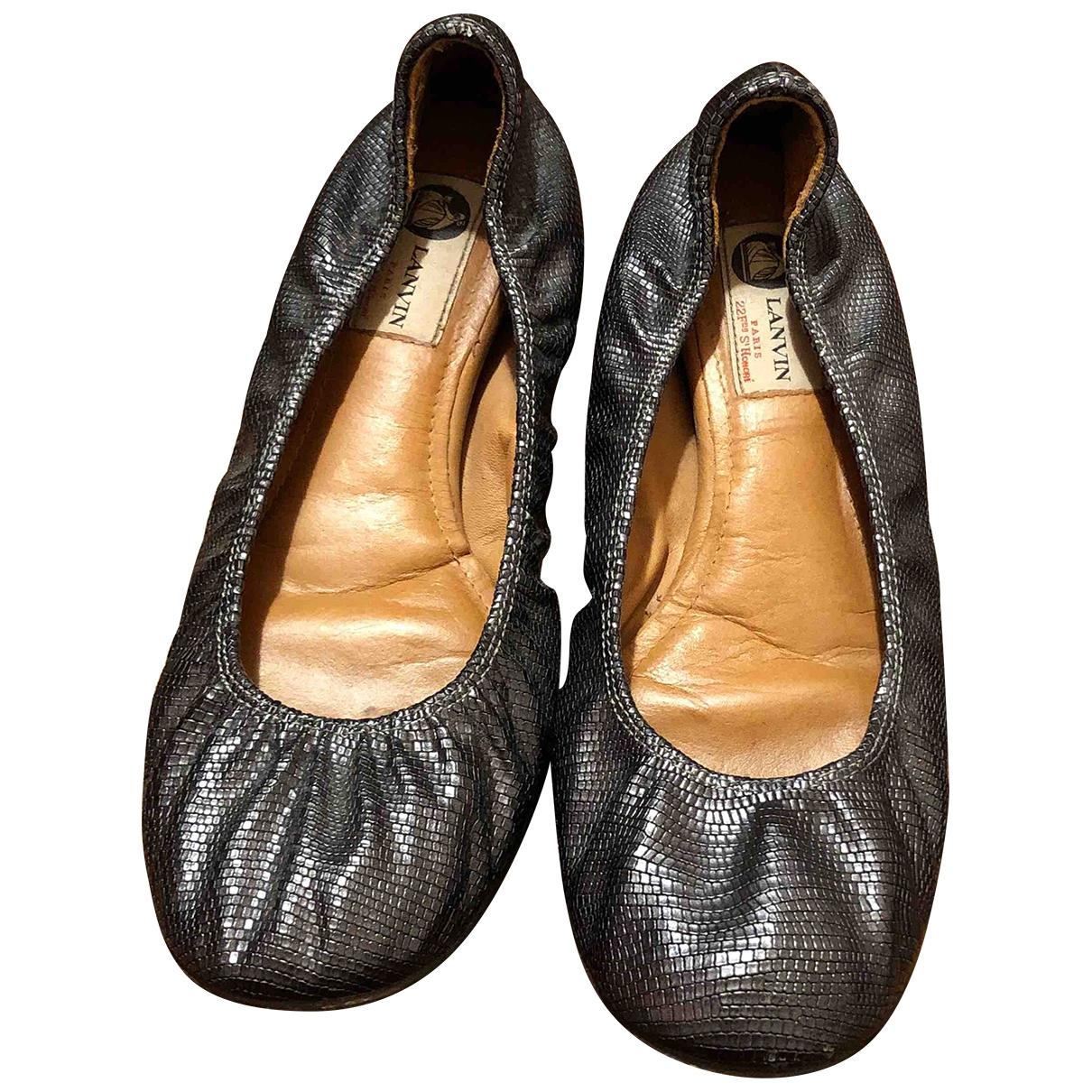 Lanvin \N Ballerinas in  Grau Leder