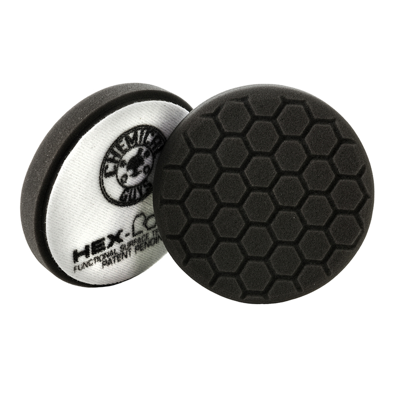 Black Hex-Logic Car Finishing Pad, 4 Inch - Chemical Guys
