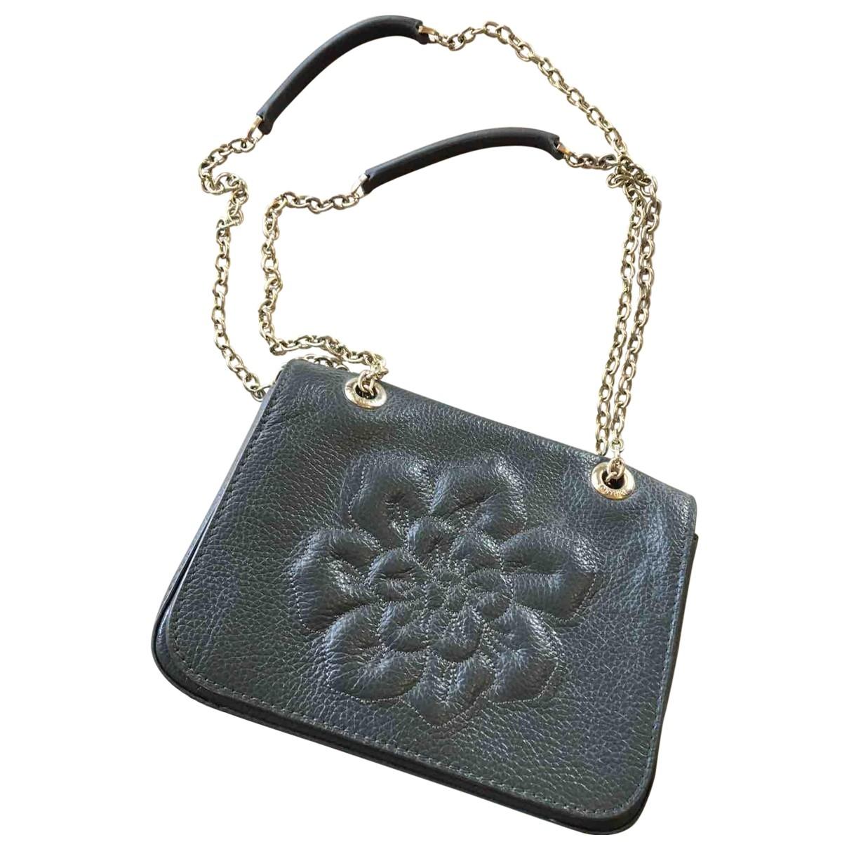 Anne Fontaine \N Handtasche in  Schwarz Leder