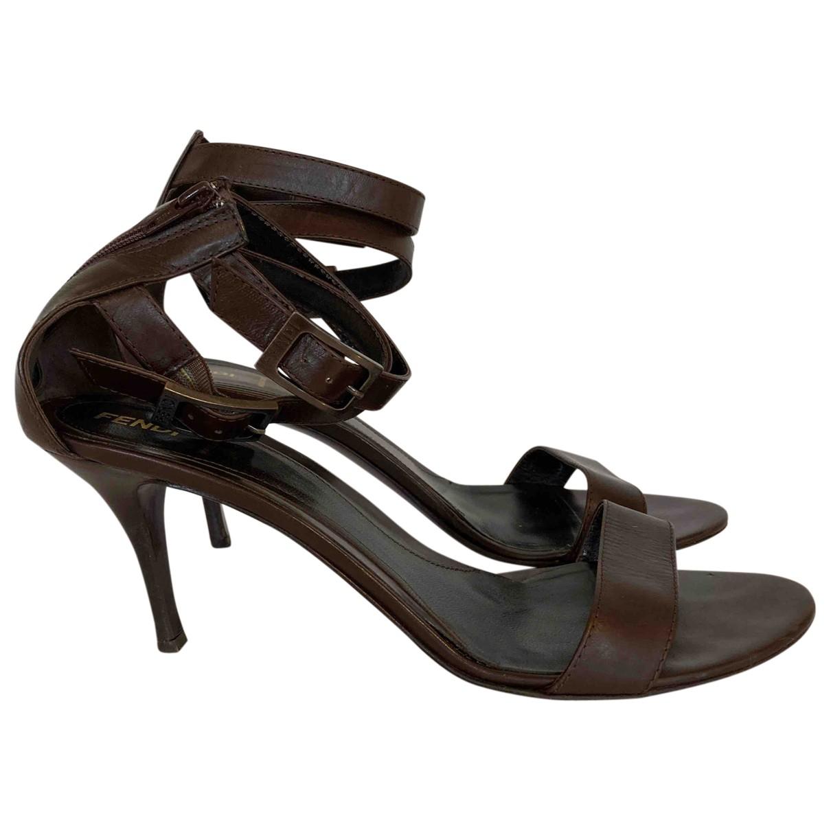 Fendi \N Brown Leather Heels for Women 40.5 EU