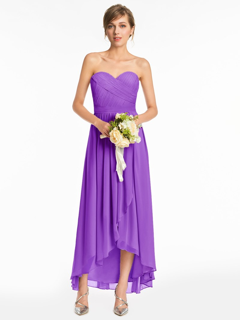 Ericdress Sweetheart A Line High Low Bridesmaid Dress