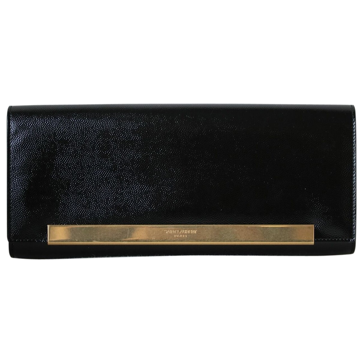Saint Laurent \N Black Patent leather Clutch bag for Women \N