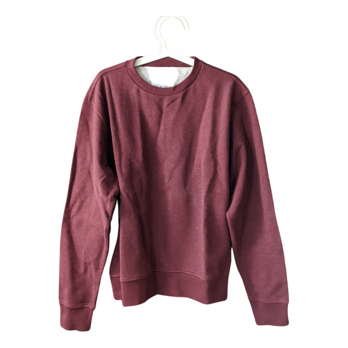 Maison Martin Margiela \N Pullover.Westen.Sweatshirts  in  Bordeauxrot Baumwolle