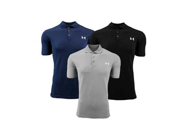 Ua Mens Short Sleeve Performance Polo 3p
