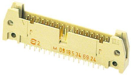 HARTING , SEK 18, 6 Way, 2 Row, Straight PCB Header