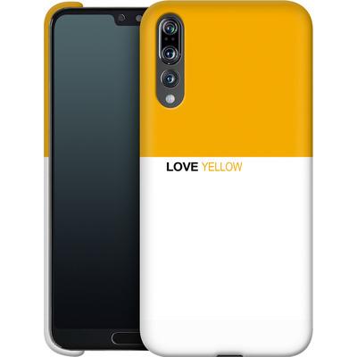 Huawei P20 Pro Smartphone Huelle - LoveYellow von caseable Designs