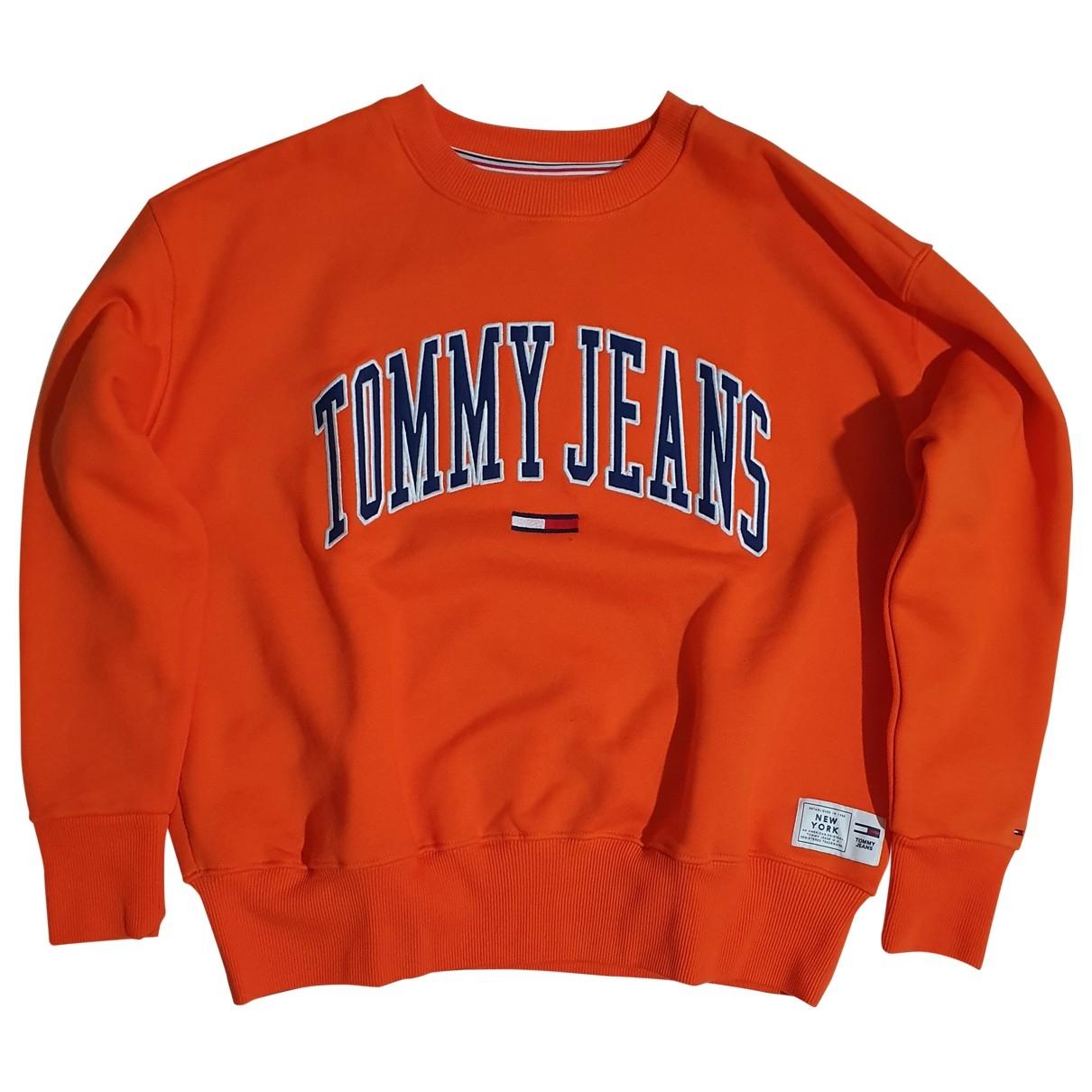 Tommy Jean - Pull   pour femme en coton - orange