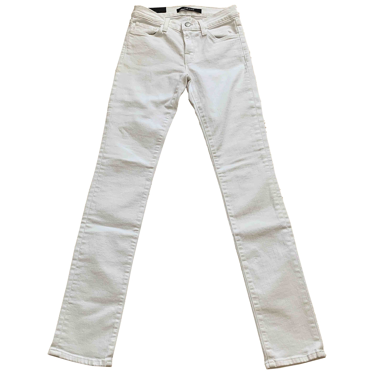 J Brand \N White Cotton - elasthane Jeans for Women 25 US