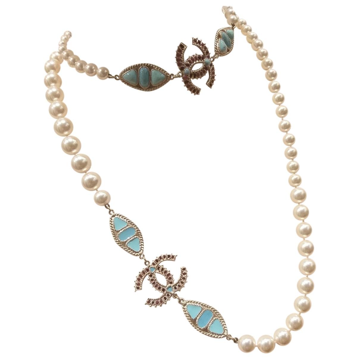 Chanel \N Kette in  Bunt Perlen