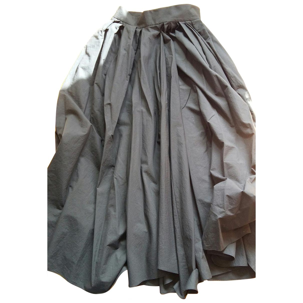 Brunello Cucinelli N Black Cotton - elasthane skirt for Women 42 IT