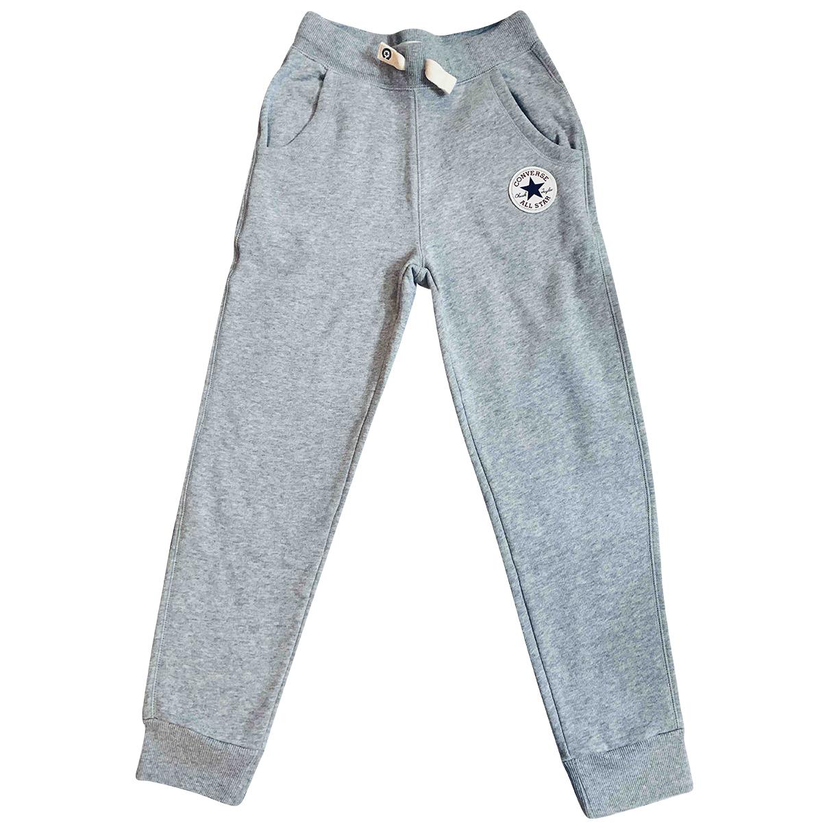 Converse - Pantalon   pour enfant en coton - gris