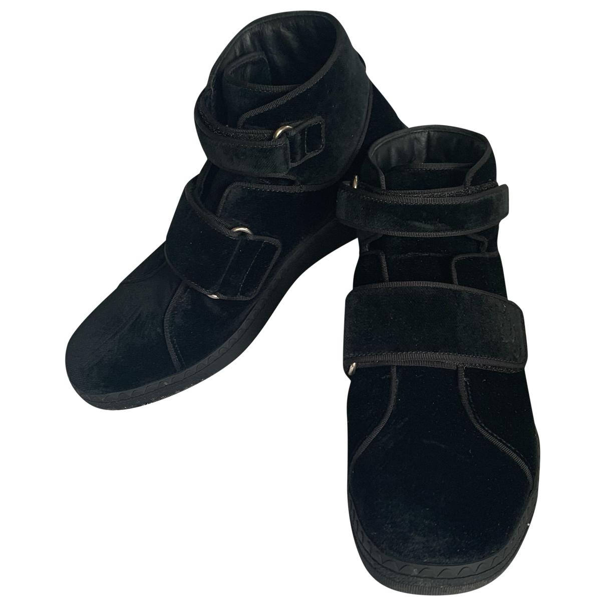 Gucci - Boots   pour femme en velours - noir