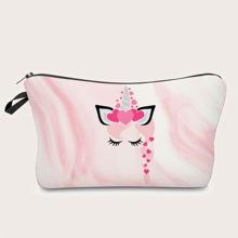 Cartoon Graphic Makeup Bag