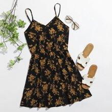 Slip Kleid mit Blumen Muster