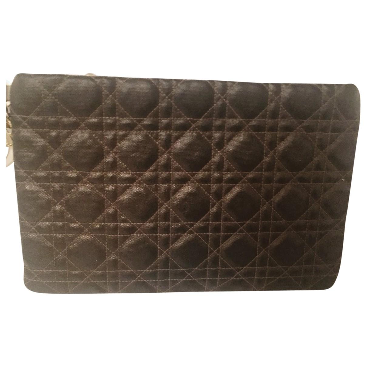 Dior Lady Dior Metallic Cloth Clutch bag for Women \N