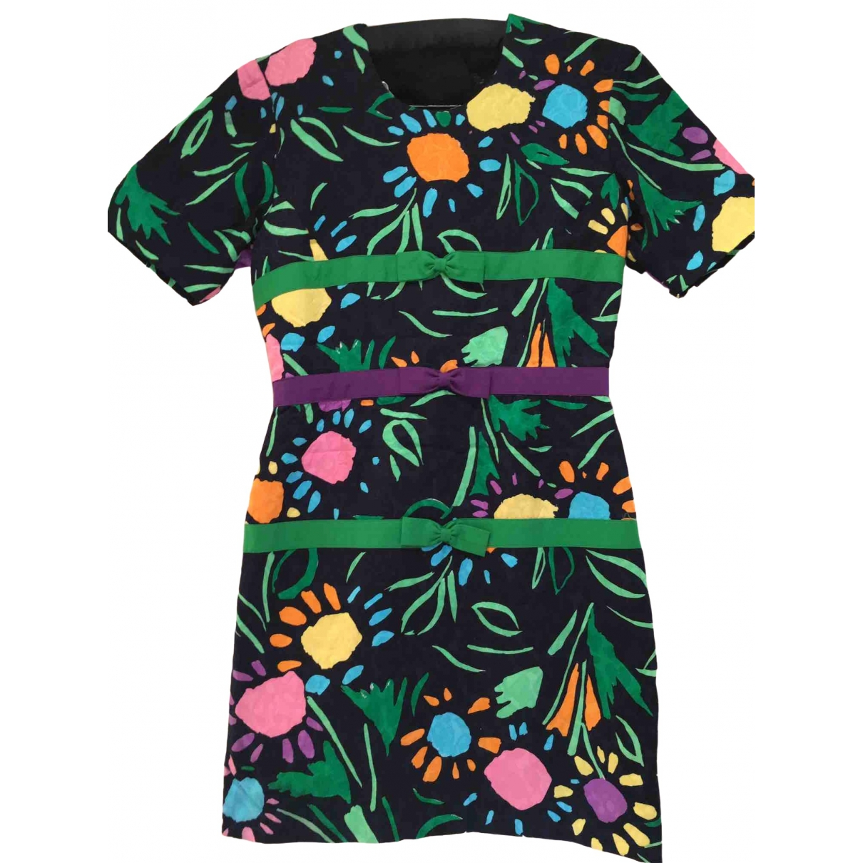 Hanae Mori \N Multicolour Cotton dress for Women 38 FR