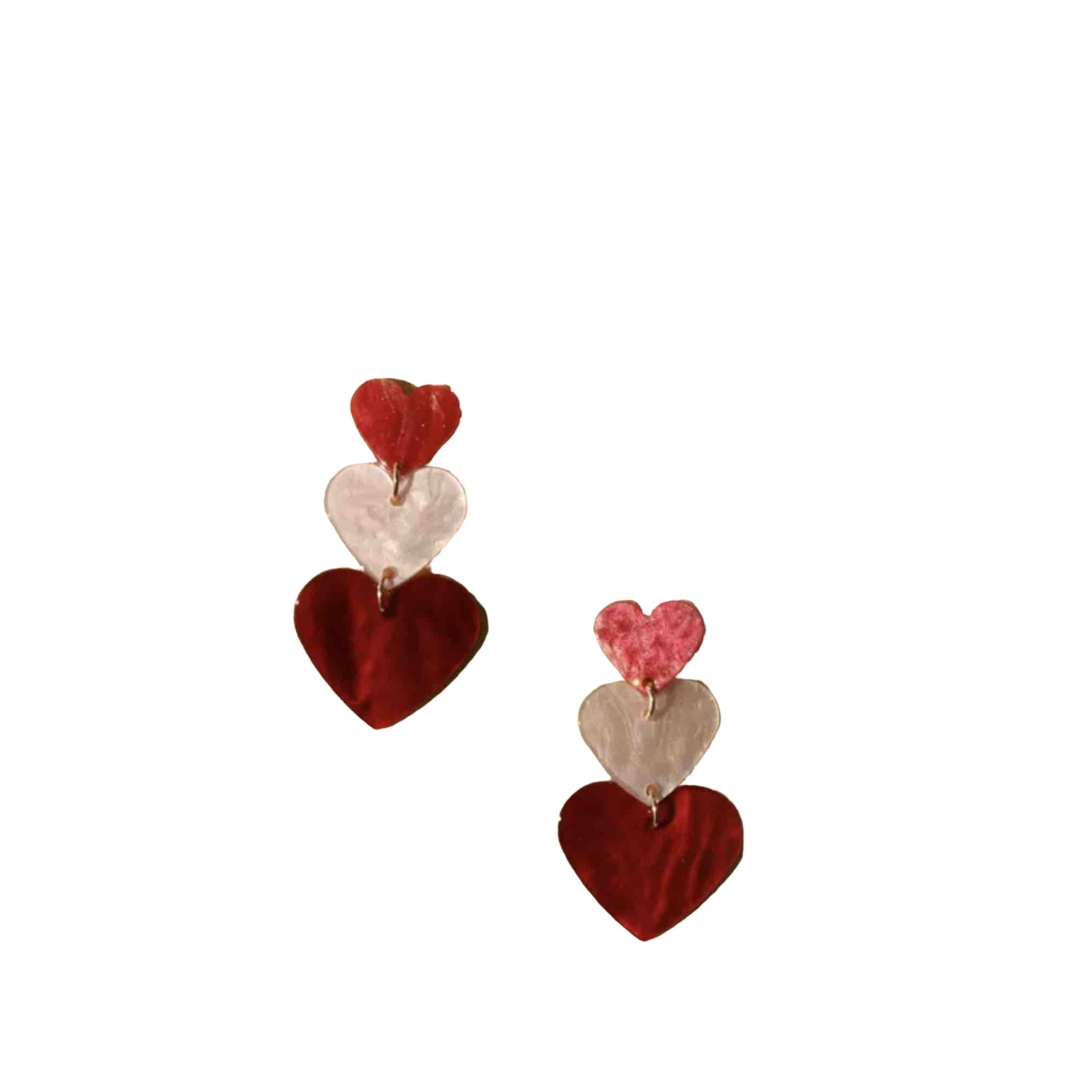 Non Signé / Unsigned Motifs Coeurs Pink Earrings for Women \N