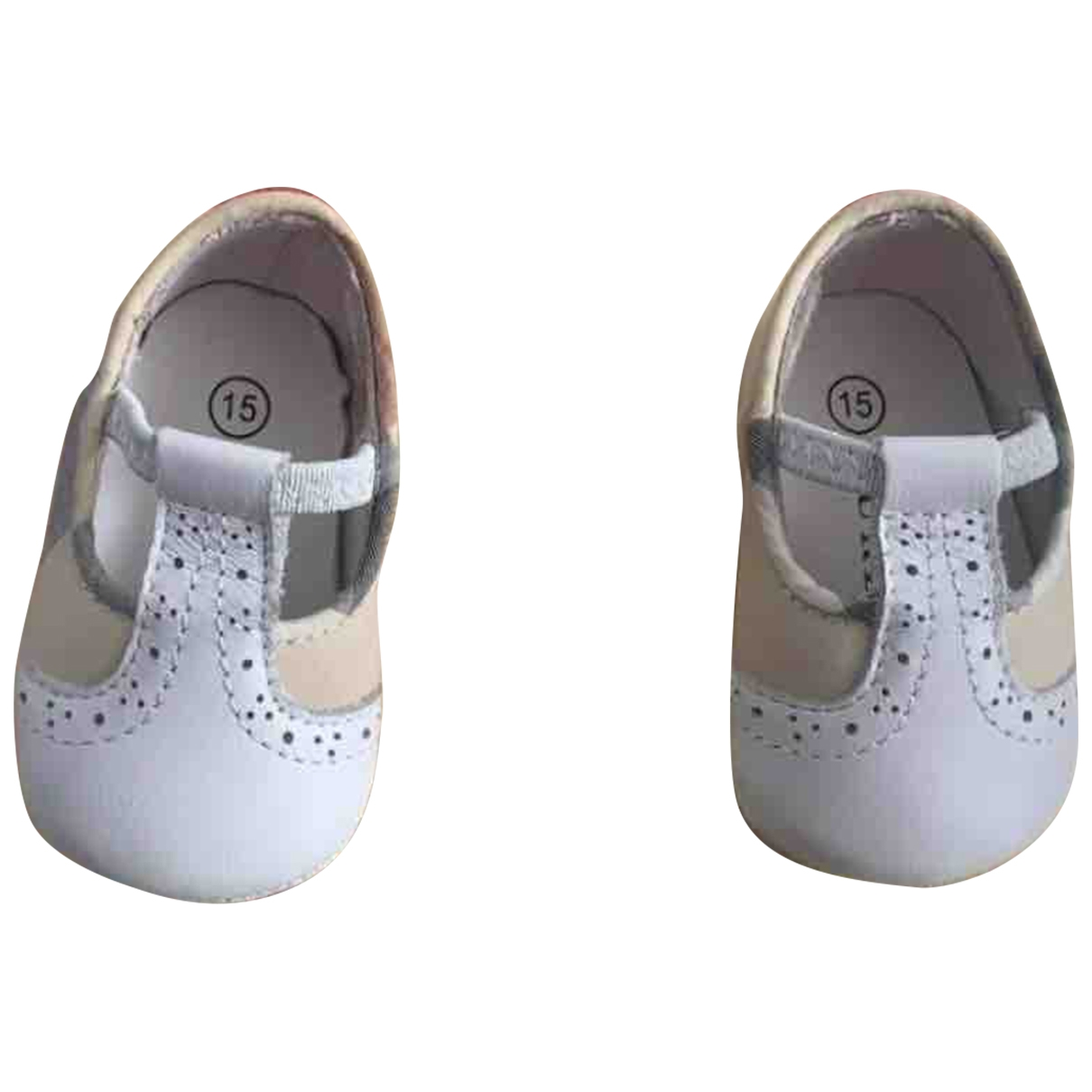Burberry \N Beige Leather First shoes for Kids 17 EU