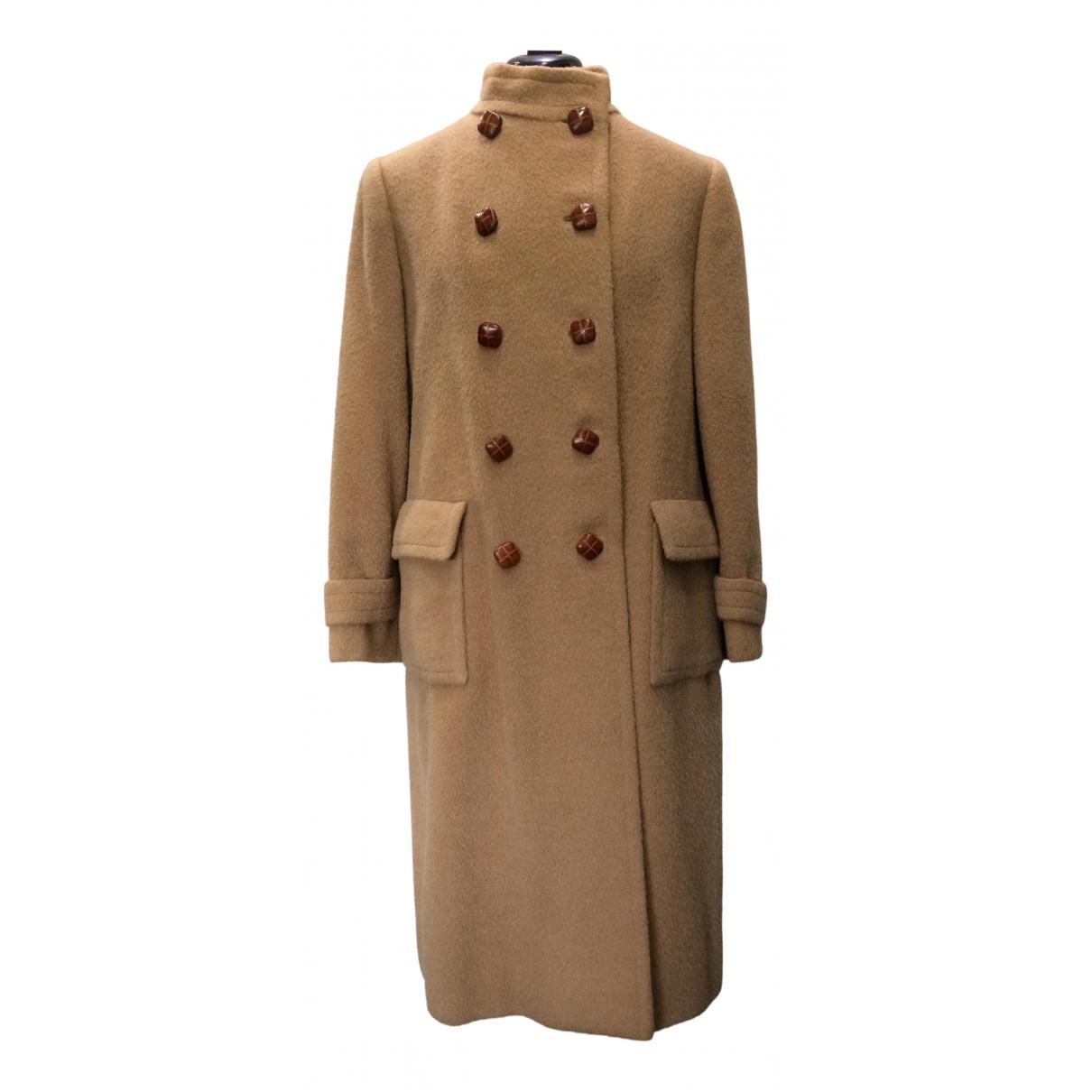 - Manteau Epaulettes pour femme en laine - camel