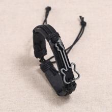 Gewebter Legierung Armband mit Guitarre Dekor