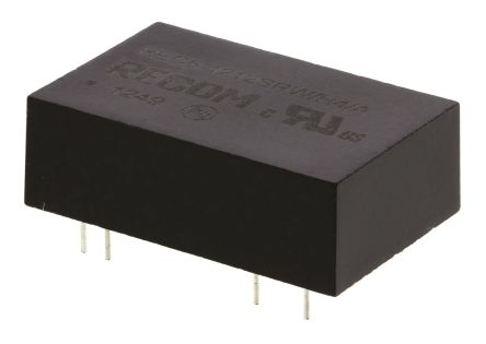 Recom REC5 5W Isolated DC-DC Converter Through Hole, Voltage in 9 → 18 V dc, Voltage out 12V dc Medical Approved