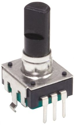 Bourns 24 Pulse Incremental Mechanical Rotary Encoder with a 6 mm Flat Shaft (Not Indexed), Through Hole